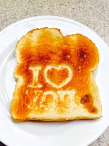 I love you toast