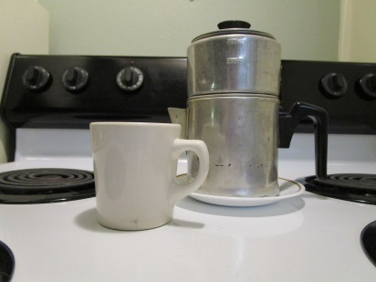 My favorite coffee pot, which I love on every morning, Mmm!